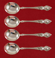 """Meadow Rose by Wallace Sterling Silver Gumbo Spoon 4-piece Set Custom Made 8"""""""