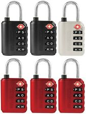 (12) ea WordLock LL-277-A1  4 Dial TSA Approved Luggage Lock - Assorted Colors