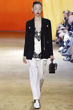 CELINE PARIS 2250$ Authentic New Black Jacket In Stretch Wool sz 42