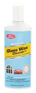 NEW NOSTREEK Gel Gloss glass polish 8oz glass wax cleaner mirror, metal, chrome