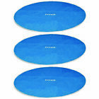 12-Foot Easy Set and Metal Frame Swimming Pool Solar Cover Tarp, Blue (3 Pack)