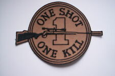 Aufnäher ONE SHOT ONE KILL   ca10x8cm