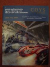 Coy's Car Auction Catalogue 28 July 2003 - Royal Horticultural Halls