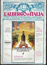 (riviste)L'ALBERGO IN ITALIA rivista mensile di propaganda alberghiera anno 1932