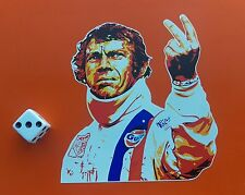 Le MANS movie sticker Steve McQueen due dita saluto 100mm x 90mm