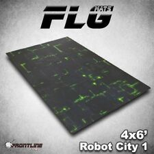 FLG Mats: Robot City 1 6x4' High Quality Neoprene Tabletop Gaming Mat