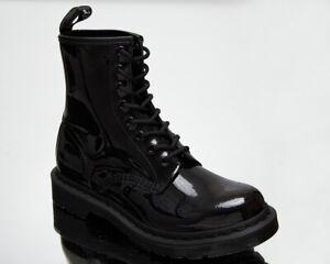 Dr. Martens 1460 Mono Black Patent Lamper Women's Casual Lifestyle Boots Shoes
