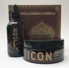 I.C.O.N. ICON India Oil 3.8 oz & 24k Hair Masque 8 oz Set Richly Exotic Argan