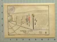 Mapa/Batalla Plan Dunkirk Dunes Puede 24th June 3rd 1658 Canal A Furness