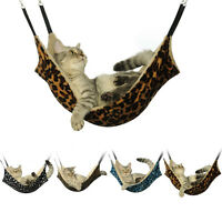 Cat Hammock LARGE Leopard Fur Bed Animal Hanging Cat Cage Comforter Ferret Pet