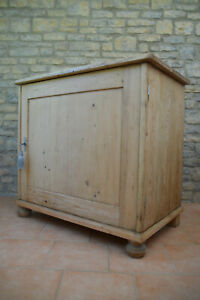A Very Unsual Large Old Rustic Pine Victorian Pantry / Cupboard / Cabinet