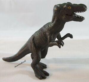 "Dinosaur Tyrannosaurus Rex action Figure Black & Green Toy solid Plastic 3"" tall"