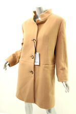 CINZIA ROCCA Camel Single Breasted Wool/Cashmere Coat 16 $865
