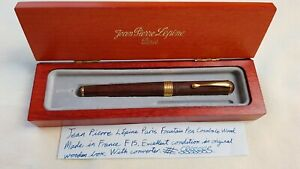 Jean Pierre Lepine Paris Fountain Pen Cocobolo Wood Made In France Original Box