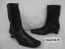COLE HAAN Black Leather Zip Ankle Boots Womens Size 8.5 M Style D15068