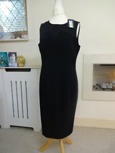 M&S Collection Black Tailored Dress UK 16 New Tags
