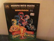 "Mighty Morphin Power Rangers ""Morph into Math"" Workbook NEW"