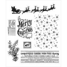 Tim Holtz Cling Stamps - Christmas Nostalgia