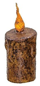 Nutmeg Cedar scented PRiMiTivE Handmade Candle Holder Shared Wick Taper Candles