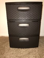 Sterilite 3 Drawer Wide Weave Tower - Espresso