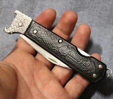 USSR Vintage Folding hunting Knife (2 blade) 1970-80's Original Hunting, Fishing