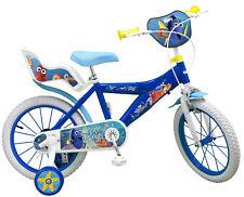 Kinderfahrrad Disney Pixar Finding Dory 16 Zoll Kinder Fahrrad blau Stützräder