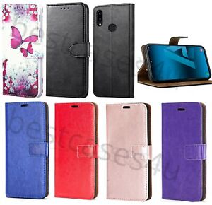 For Samsung A10s Phone Case Slim Leather Flip Case Shockproof Wallet Book Cover