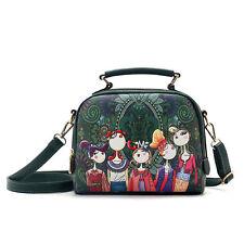 vintage Shoulder Bag Women Messenger Cross Body Purse Cartoon Handbag Satchel