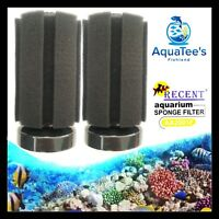2 x PIECE HI-FLOW SMALL SPONGE FILTER FISH TANK WATER PUMP OXYGEN SUBMERSIBLE