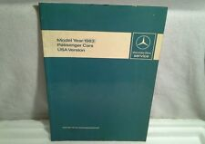MERCEDES BENZ 1983 SERVICE REPAIR MANUAL PASSENGER CARS
