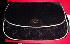 DIOR PARFUMS MAKE UP BAG BLACK VELVET  WITH GOLD TRIMCosmetic, Jewelry BAG