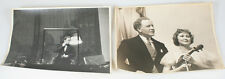 SET OF TWO CANDID B W PHOTOS OF SYMPHONY ORCHESTRA PERFORMING - 11X14