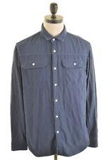 BANANA REPUBLIC Mens Denim Shirt Large Navy Blue Cotton