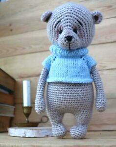 Crochet  Teddy Bear Toy,Crochet Doll, amigurumi knitted
