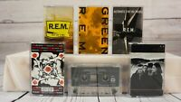 Vintage Cassette Tape Lot Rock R.E.M. Red Hot Chili Peppers U2 Cranberries x6