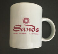 Vintage Sands Hotel and Casino Coffee Mug Cup 12 Oz Las Vegas Red Souvenir