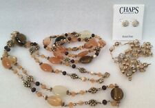 CHAPS 2 Sets Necklace & Earrings and Necklace & Bracelet Signed