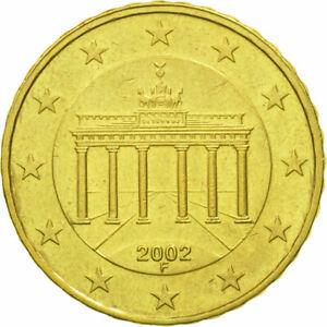 [#582310] République fédérale allemande, 10 Euro Cent, 2002, TTB, Laiton, KM:210