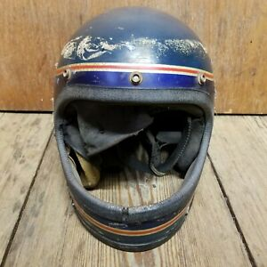 Vintage Polaris Snowmobile Helmet (See Photos And Description)