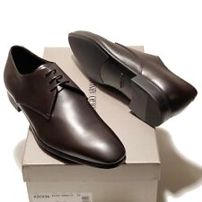 Giorgio Armani Leather Oxford 10.5 Men's Brown Formal Dress Shoes Casual Lace-up