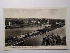 alte  Ansichtskarte Mülheim Ruhr  1939 Feldpost Wasserbahnhof Luftbild