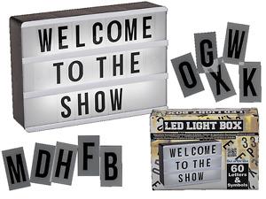 Illuminated LED Display Board - 60 Letters & Symbols Gift Plastic Light box