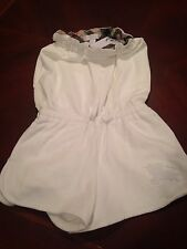 Burberry Children Terry White Cover Up Size 7/7Y NWT Jumper