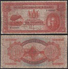 New Zealand P 154 - 10 Shillings 1934