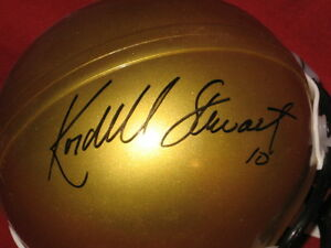 Kordell Stewart Signed Colorado Buffalo Gold Mini Helmet No Logo QB Challenge