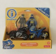 NIB Fisher-Price Imaginext DC Super Friends Gotham City Batman Catwoman Cycles