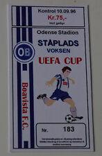 Ticket for collectors EC Odense BK - Boavista Porto 1996 Denmark Portugal