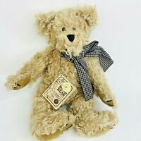 "Woodrow T Bearington Boyds Mohair Bear Collection 1999 Beige 12"" Jointed LE Box"