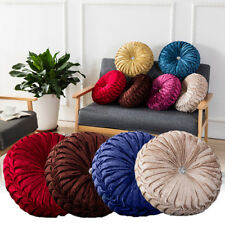 Cushion Crush Velvet Cushions Luxury Diamante Chic Filled Scatter Cushion Round