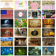 7x5' Backdrop Baby Birthday Party Background Studio Photo Prop Cowboy Scene Show